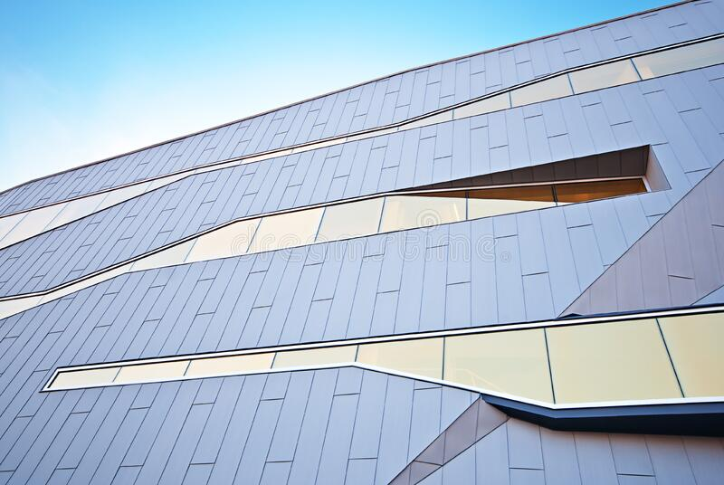 Facade of modern building stock photo