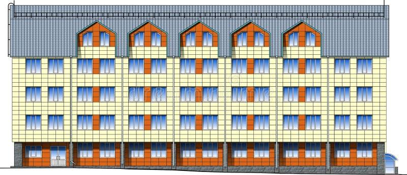 Download Facade Of Modern Building In Vector Stock Vector - Image: 25720230