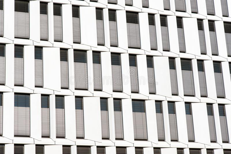 Facade of a modern office building stock image