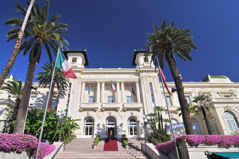 Facade of the Municipal Gambling Casino San Remo, Ligúria Itália foto de stock royalty free