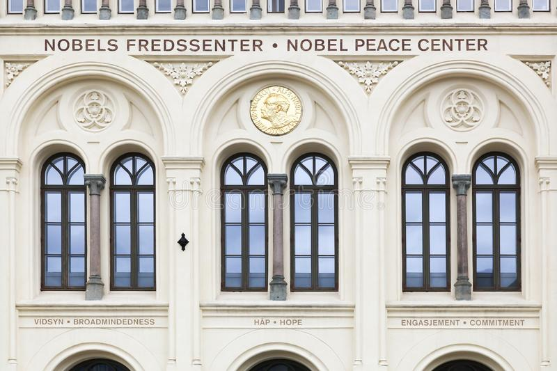Facade of the Nobel peace center in Oslo, Norway royalty free stock photo