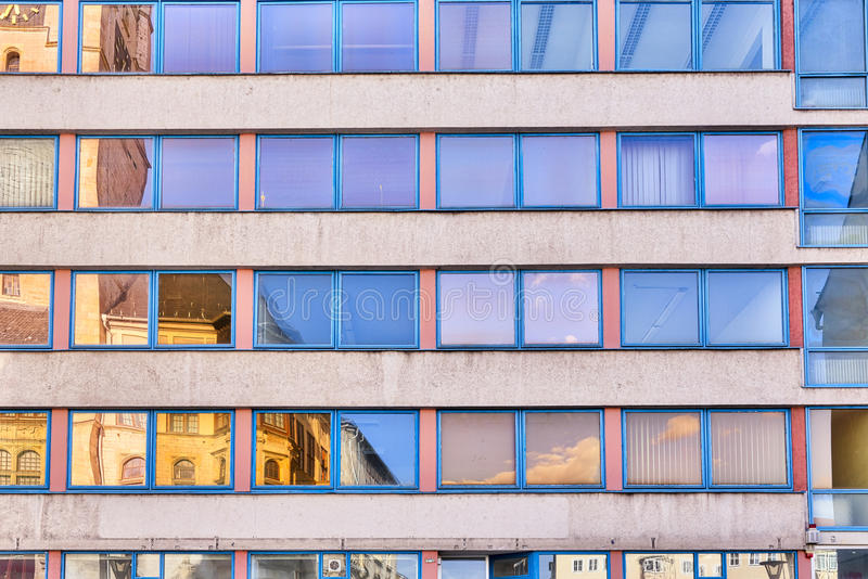 Facade of an office building stock photos