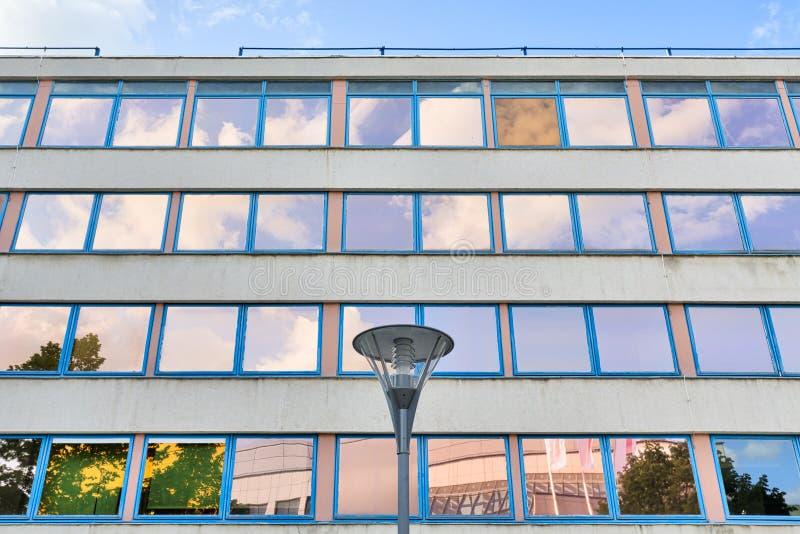 Facade of an office building stock image
