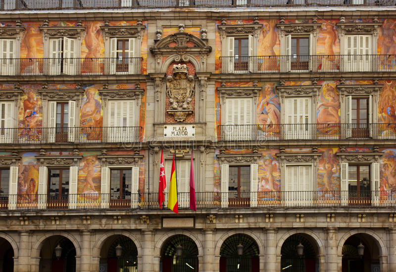 Download Facade Of Old Building On Plaza Mayor Stock Photo - Image: 23458468