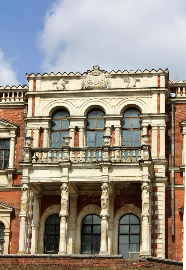 Facade of the old estate royalty free stock photography