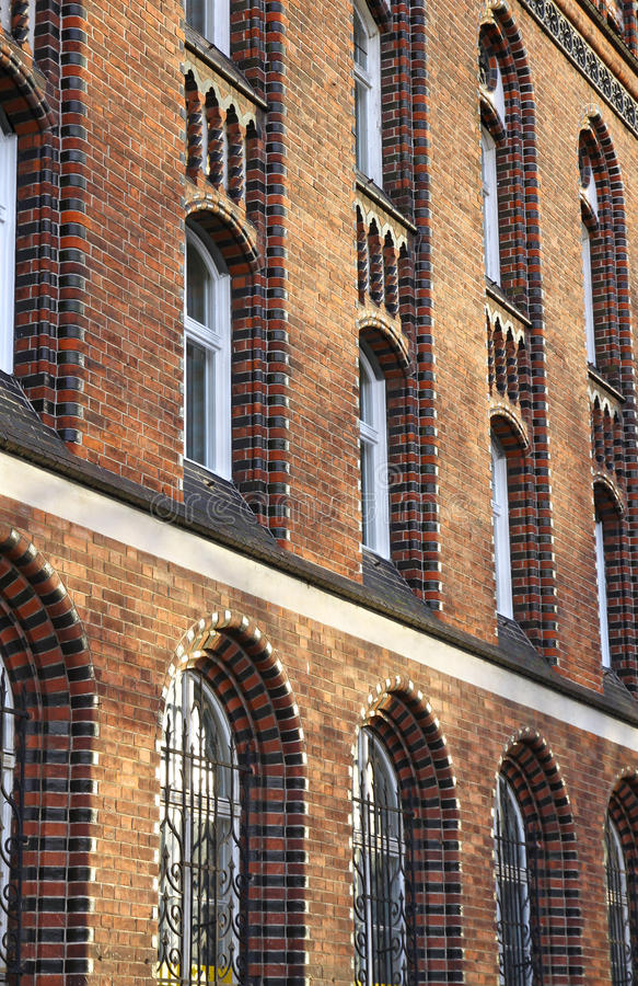 Facade of an old gothic-style building royalty free stock photos