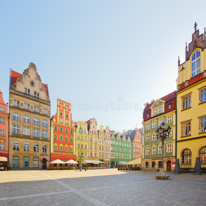 Download Facade Of Old Houses, Wroclaw Stock Image - Image: 30136201