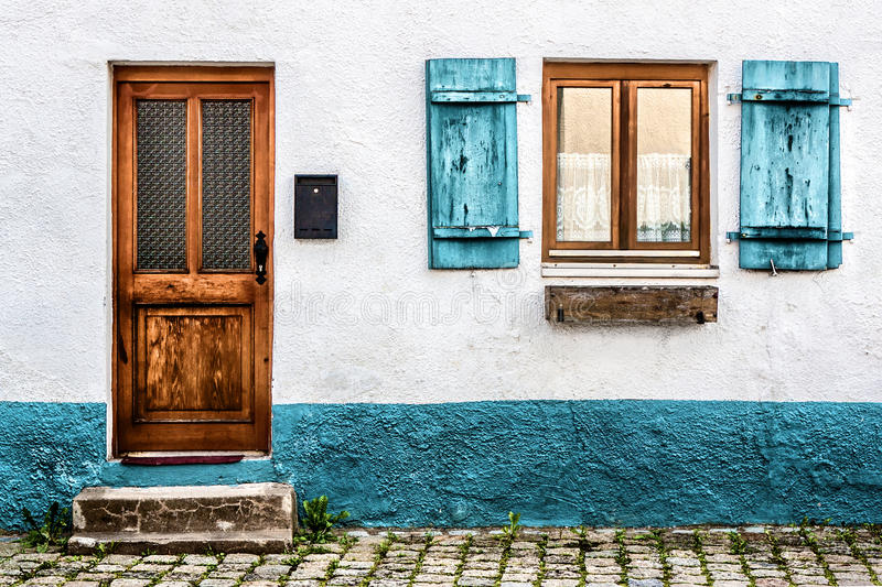 Facade of an old house in Germany royalty free stock image