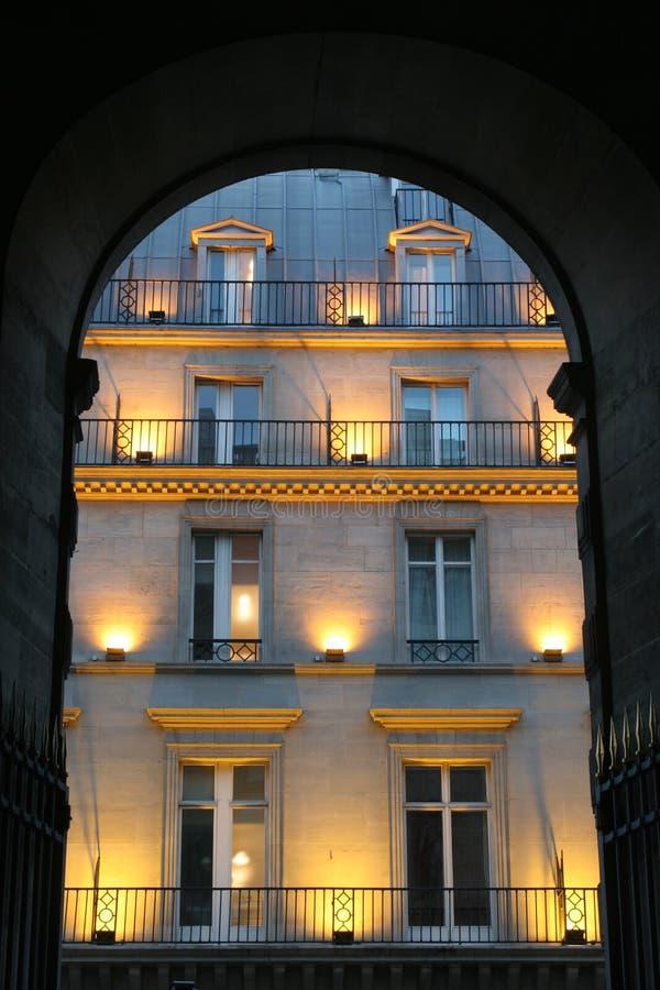 Download Facade in Paris - evening stock image. Image of gate, alight - 5503181