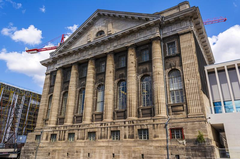 Facade of the Pergammonmuseum in Berlin royalty free stock photo