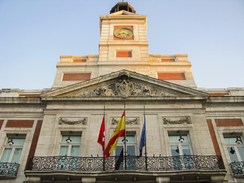 Download Facade in Puerta del sol stock image. Image of spain - 29616597