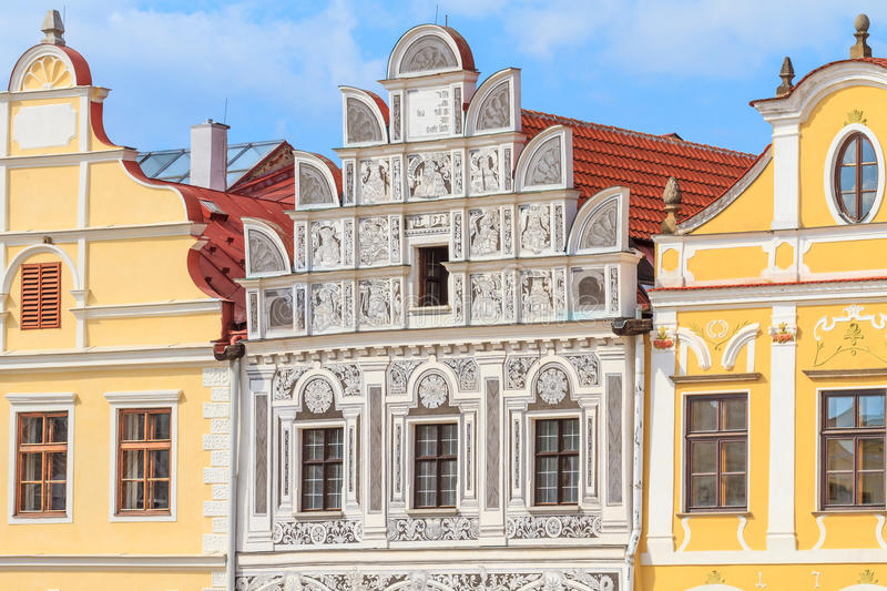 Download Facade Of Renaissance Houses In Telc, Czech Republic (a UNESCO W Stock Image - Image: 35260871