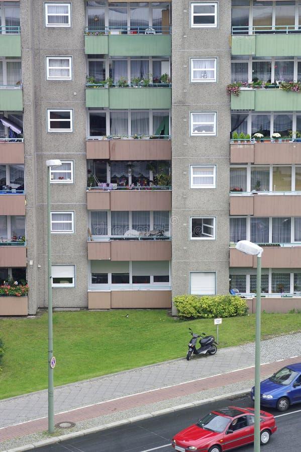 Residential building in the district of Gesundbrunnen, Berlin, Germany stock image