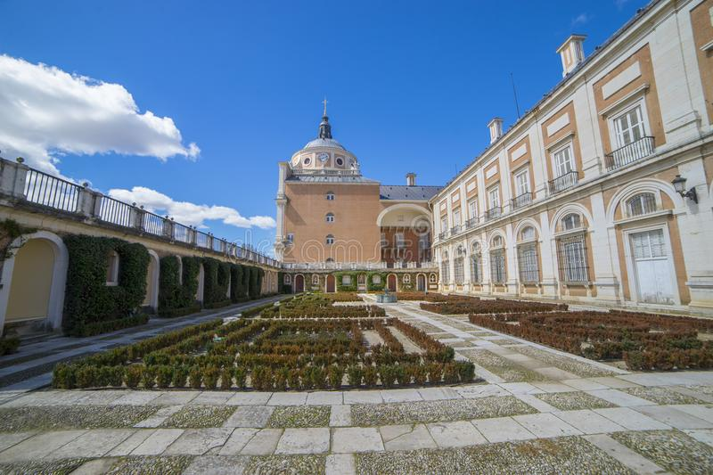 Facade, Royal Palace of Aranjuez. Community of Madrid, Spain. It stock images