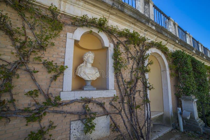 Facade, Royal Palace of Aranjuez. Community of Madrid, Spain. It stock photo