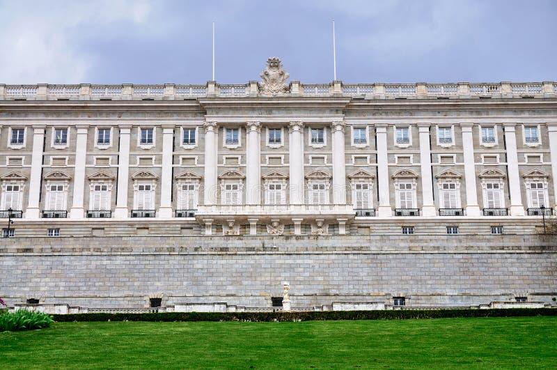 Facade of the Royal Palace, Madrid stock photo