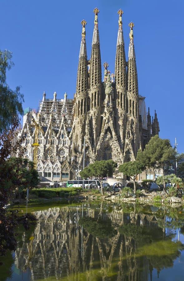 Facade Sagrada Familia Barcelona Spain royalty free stock photo