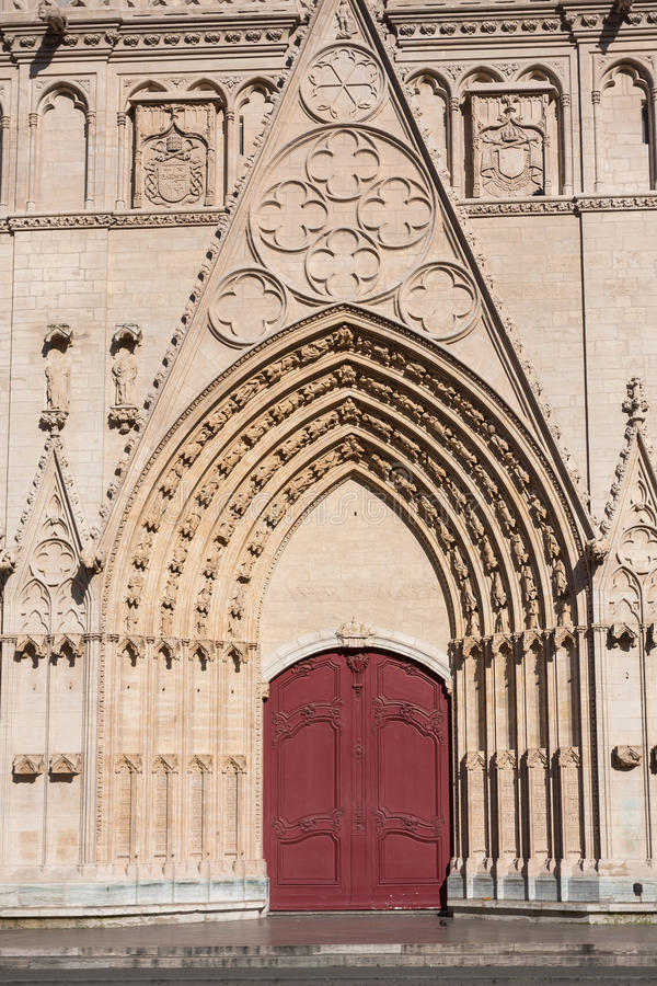 Download Facade Of Saint Jean Cathedral In Lyon, France Stock Image - Image: 36747175