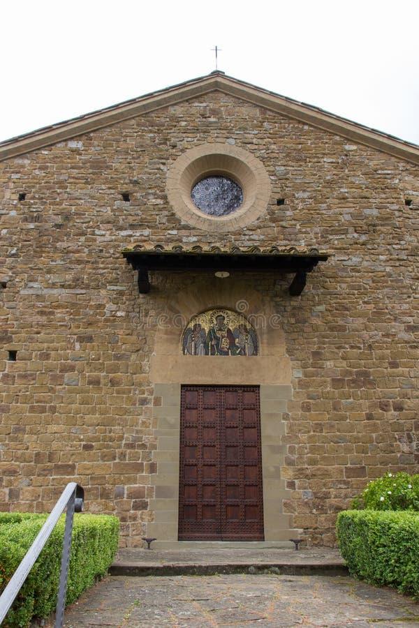 Facade of Saint Leonardo in Arcetri Church. Florence, Italy stock photos