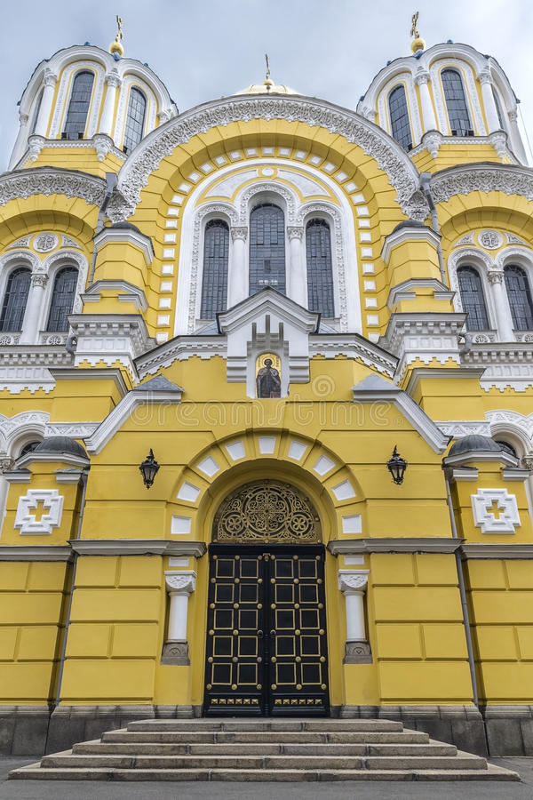 Facade of Saint Vladimir's Cathedral stock photos