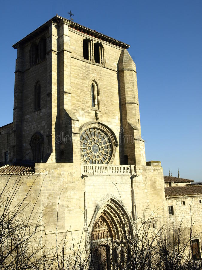 Download Facade Of San Esteban Church In Burgos Stock Image - Image: 23779893