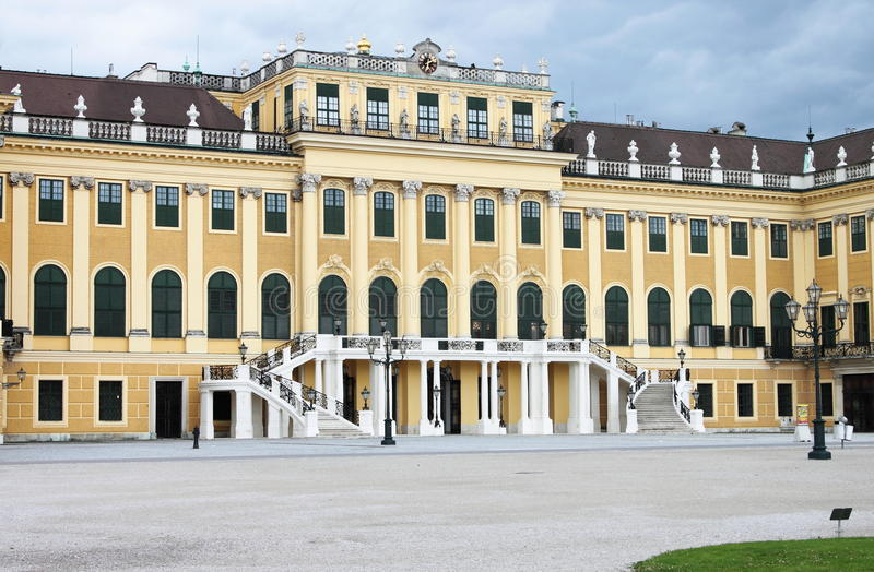 Facade of Schonbrunn Palace royalty free stock image