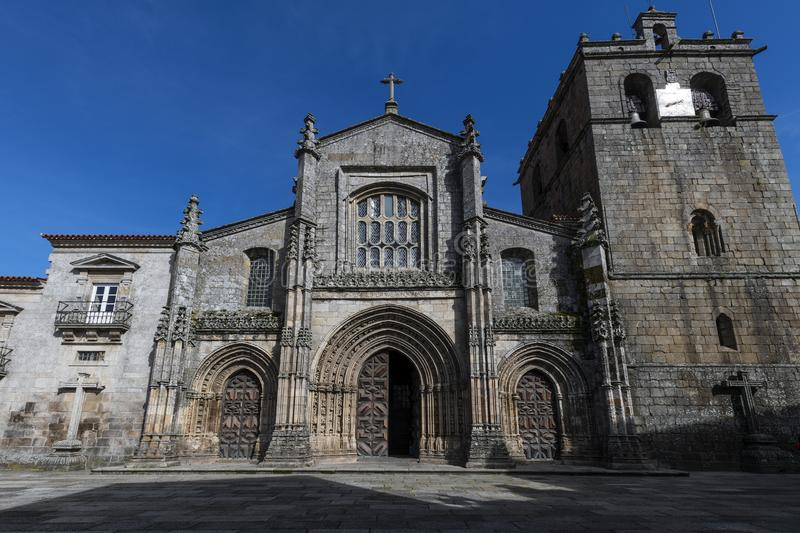 The facade of the Se the Lamego royalty free stock photography
