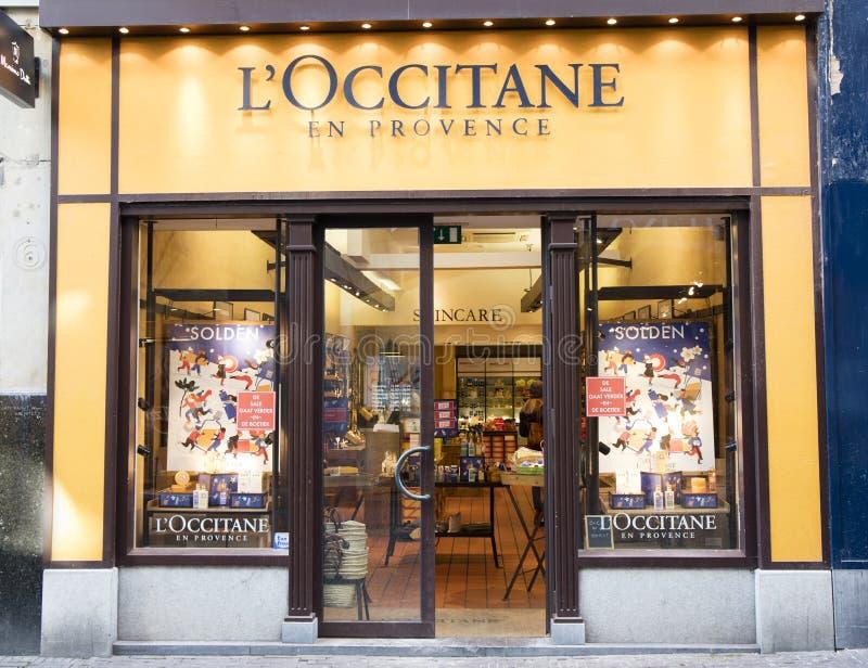 Facade of the shop loccitane en provence royalty free stock images