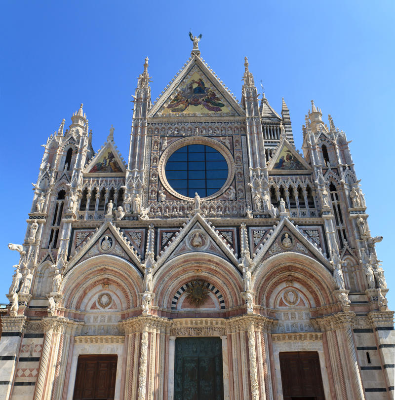 Facade of Siena dome royalty free stock image