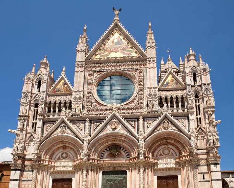 Facade of Siena dome, Italy stock photos