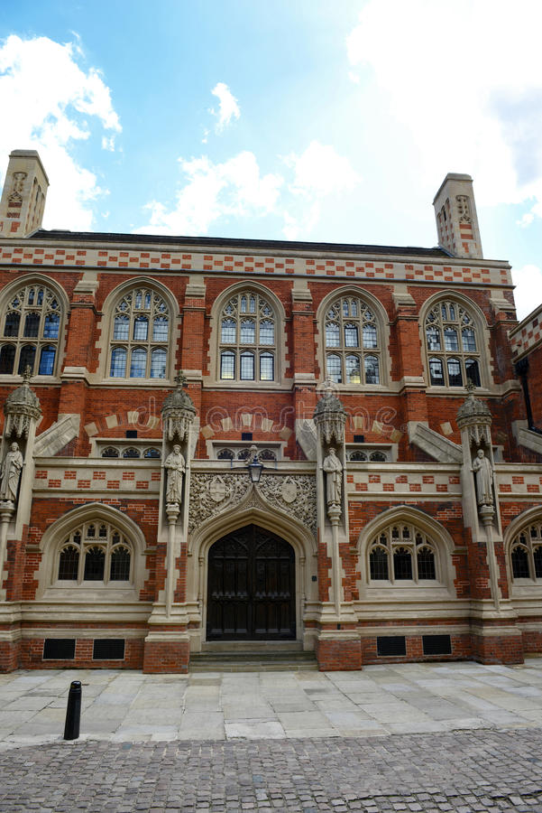 Facade of St Johns Divinity School, England. Facade Exterior of Newly Renovated St Johns Divinity School, Housing Admissions Office, Classrooms and Event royalty free stock photos