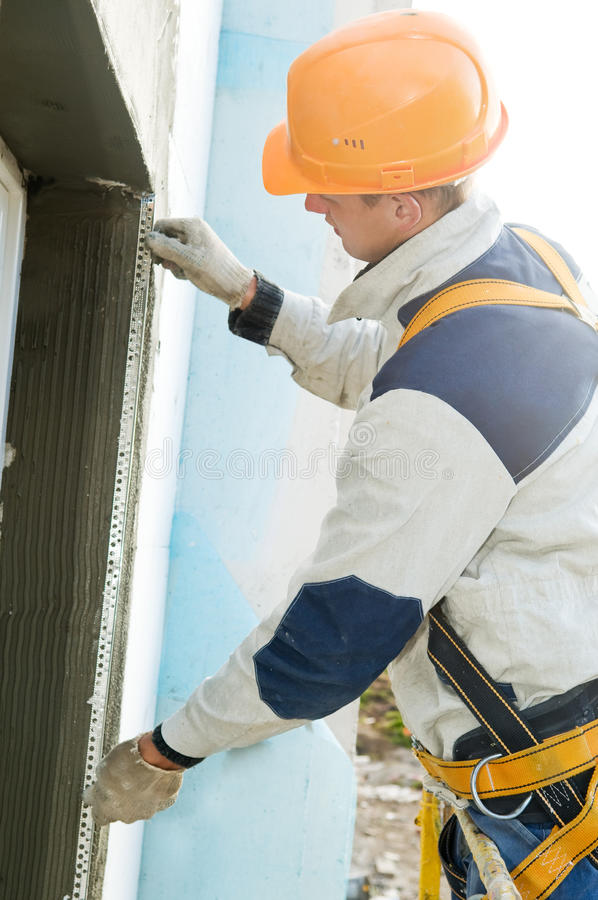 Download Facade Stopping And Surfacer Works Stock Image - Image: 16343725