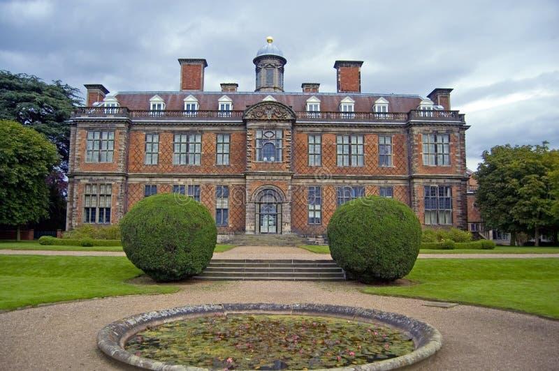Facade of sudbury. Sudbury hall, sudbury, derbyshire, england, united kingdom stock photography
