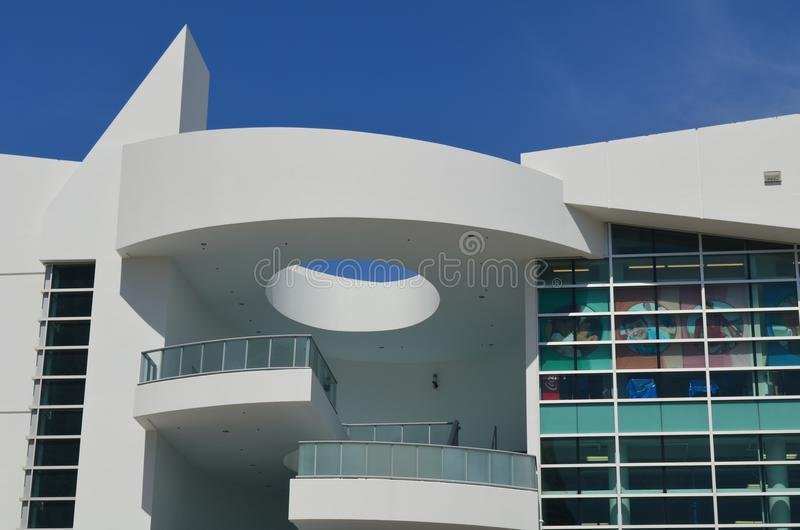 Ultra Modern Mall Facade stock images