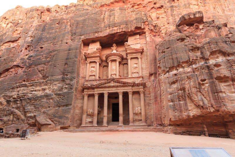 Facade of the Treasury. In Petra, Jordan stock image