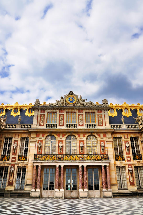 Download Facade of the Versailles stock image. Image of clouds - 20878765