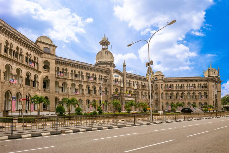 Facade view of Railway Administration Building in kuala lumpur royalty free stock photo