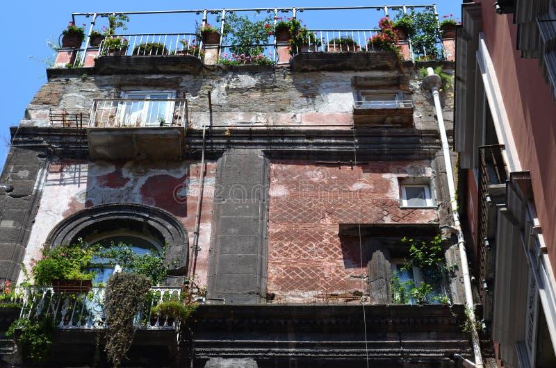 The facade of a vintage apartment house royalty free stock photos