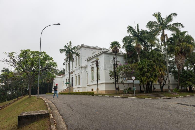 Facade of Vital Brazil Building in Butantan Institute royalty free stock photos