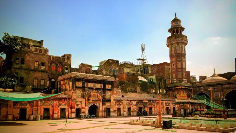 Facade of Wazir Khan Mosque, Lahore, Pakistan. Facade of Wazir Khan Mosque in Lahore, Pakistan stock photography