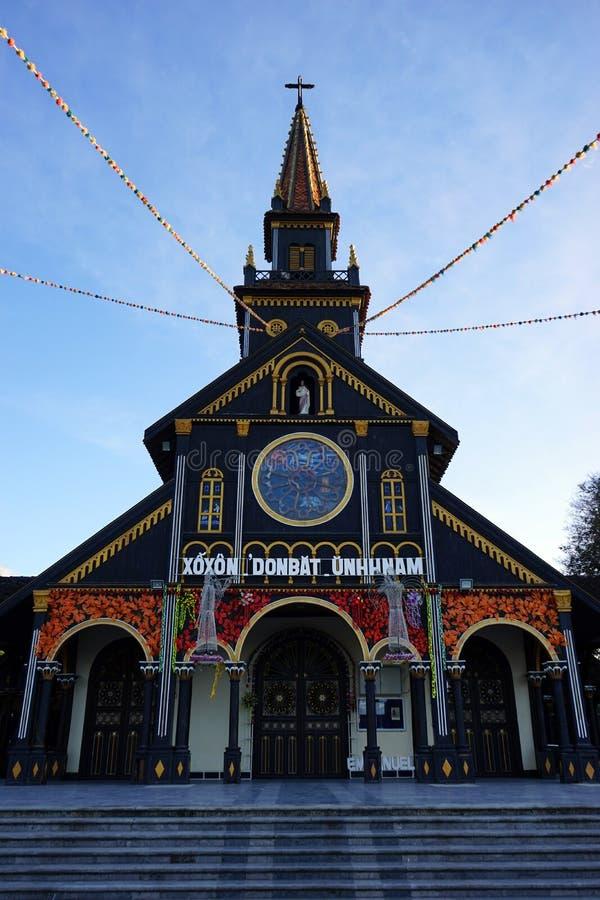Facade of Wooden Church royalty free stock photo