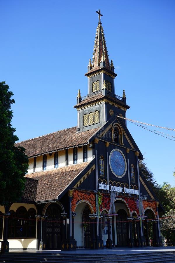 Facade of Wooden Church royalty free stock photos