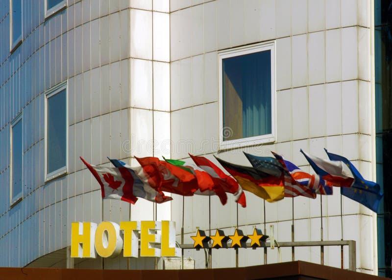 facadehotell royaltyfria foton
