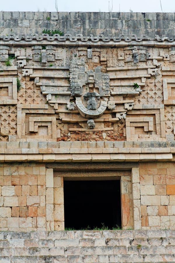 facademexico tempel uxmal yucatan arkivfoton