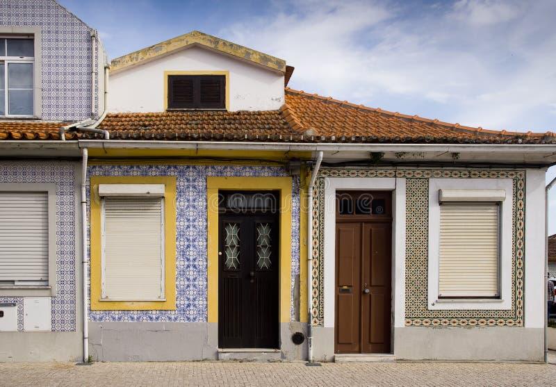 Facades Aveiro Portugal royalty free stock photography