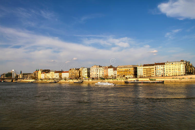 Facades in Budapest stock photography