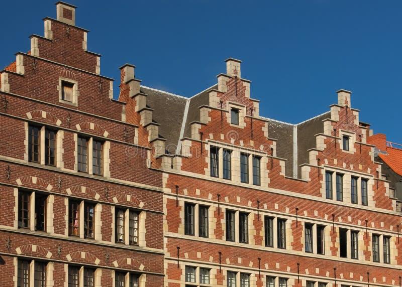 facades gent belgië royalty-vrije stock afbeelding