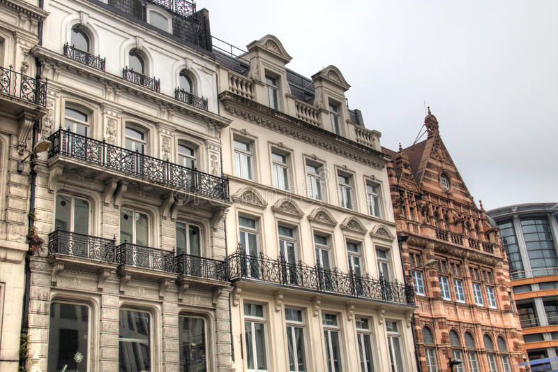 Facades of houses in London, UK. Facades of historic houses in London, the capital of the United Kingdom royalty free stock image