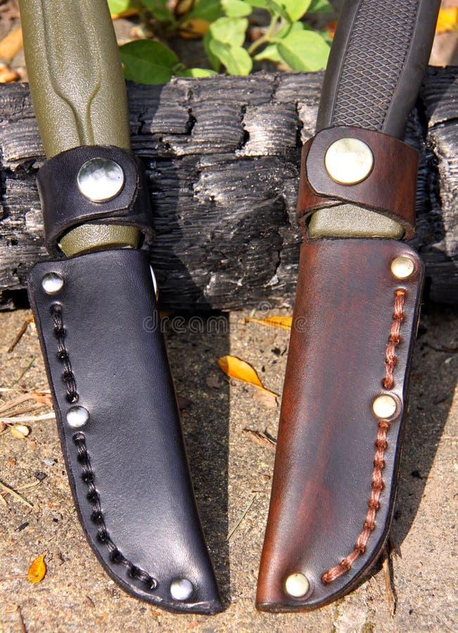 Facas do magnésio da tosquiadeira 860 e 510 de Mora imagens de stock