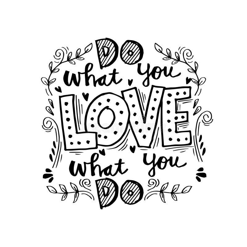 Faccia che cosa voi amano, amore che cosa fate illustrazione vettoriale